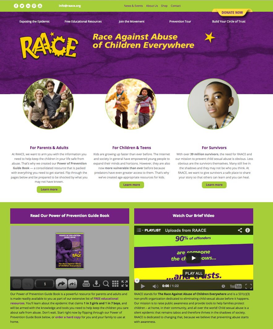 RAACE New Website